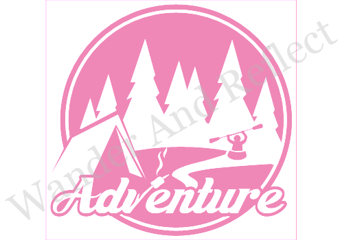 Adventure is waiting for you to kayak up to the tent in this sticker.
