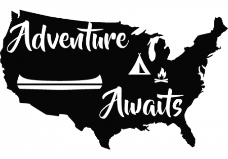Backpacking sticker of America