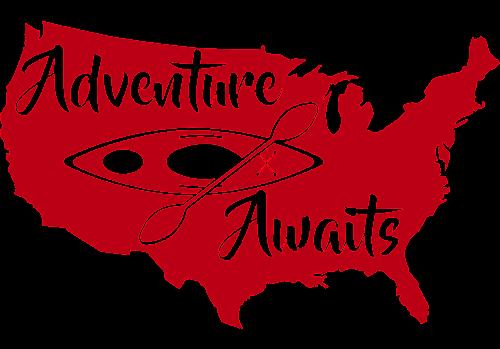 Red decal of America kayaking