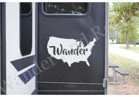 Wander America sticker for your camper van, rv or airstream.