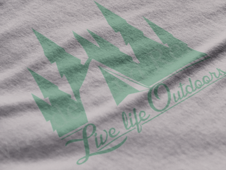 Tent camping tshirt in the pines