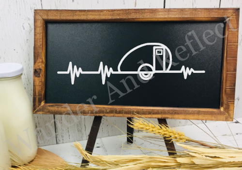 Camping EKG decal known as the outdoor pulse.