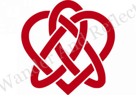 Declare your love with our Celtic knot infinite heart sticker.