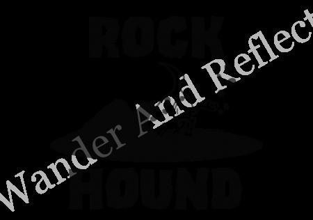 Rockhounding vinyl decal.l