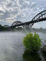 Historic Cotter Bridge over the White River in Arkansas.