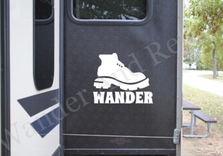 These boots are made to wander and that's just what they'll do in this sticker.