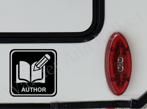 Decal showing that you are an author.