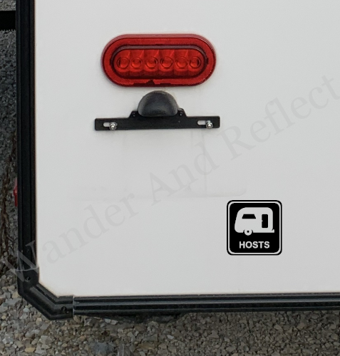 Reflective decal for camphosts