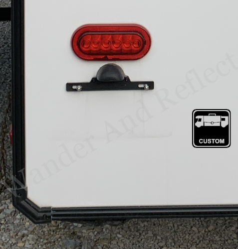 Custom work decal for helping you find customers in a campground.
