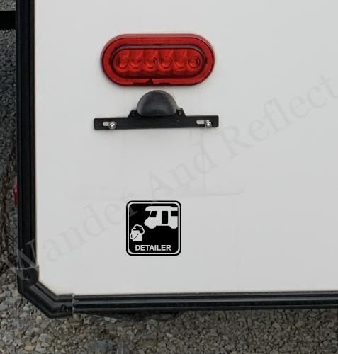 Let them know you are available to wash their camper with this vinyl decal.