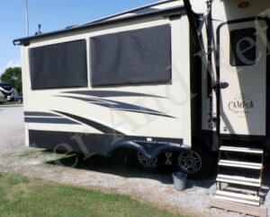 Solar Screen DIY project to help keep your RV cooler.