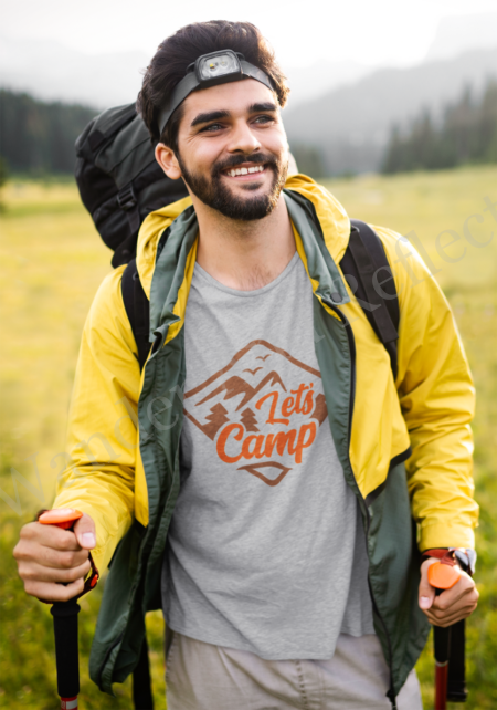 Let's Camp, there are no sweeter words than those on the front of our Bella+Cavas tshirt.
