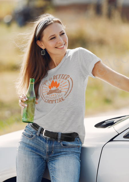 Life is better around the campfire t-shirt.
