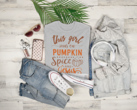This girl runs on pumpkin spice and Jesus.