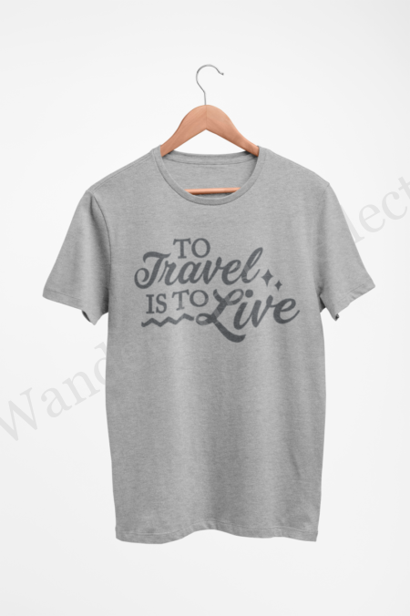 Charcoal gray on heather gray shirt from our travel and adventure series.